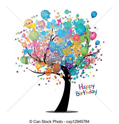 happy birthday tree