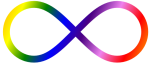 infinity with auras colors